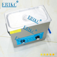 ERIKC fuel injector cleaning system tool E1024015, auto cleaning equipment ultrasonic cleaner 110V, 6L