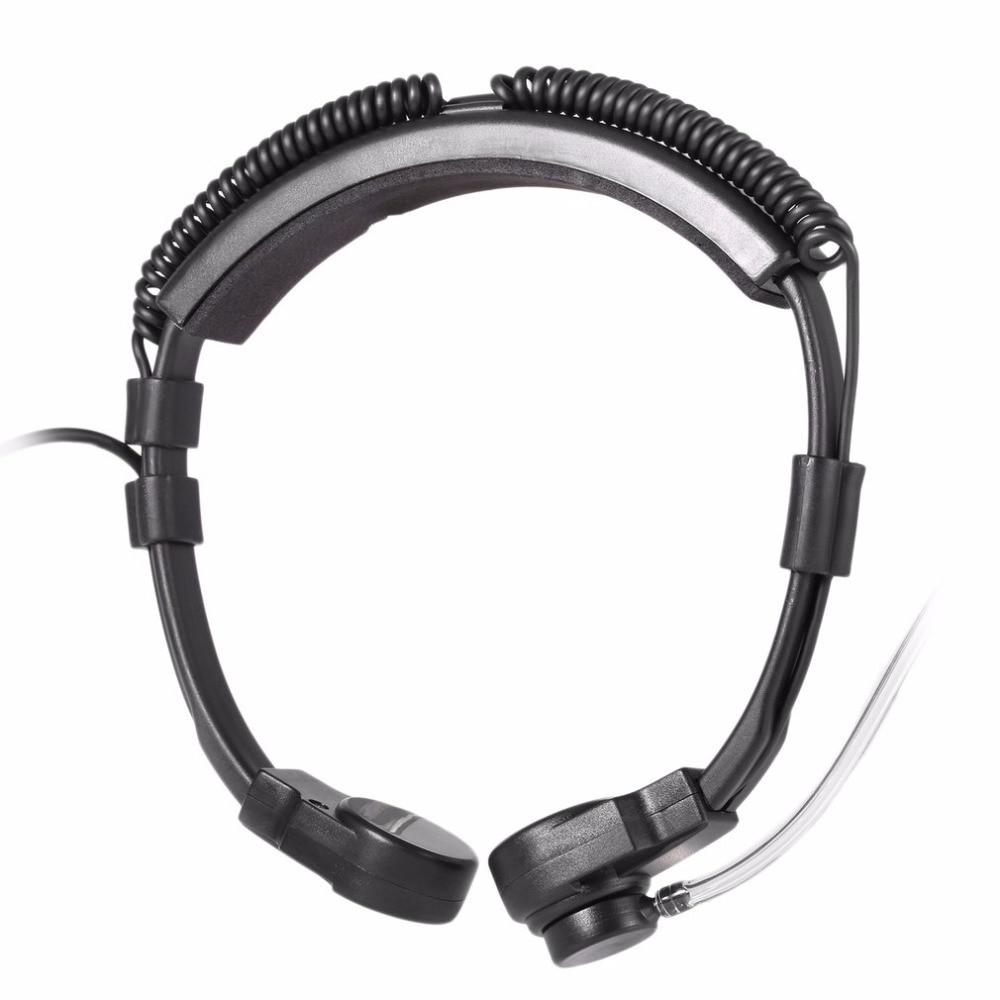 NATO Telescopic Throat Vibration Mic Headset Microphone U94 PTT Cable for  Yaesu Vertex  VX-7R VX6R  FT-270 VX-127 VX-170 Radio