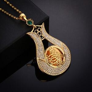 Image 4 - Jamais fané grande taille turquie pièce pendentif et colliers avec cristal AAA pour les femmes couleur or pièces de monnaie turques bijoux cadeaux ethniques