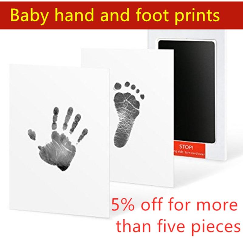 Newborn Footprint Ink Pad Handprint Footprint Set Baby Souvenir Casting Baby Hand-printed Clay Toy Gift Baby Non-toxic Imprint
