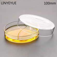 10 pieces/pack 100mm Glass Petri Dish Bacterial Culture Borosilicate Chemistry Laboratory Equipment