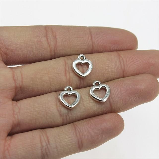 ADD-on Sterling Silver Heart Charm 24K Vermeil Heart Charm Add-on Heart Charm Tiny Heart Charm 5x6mm