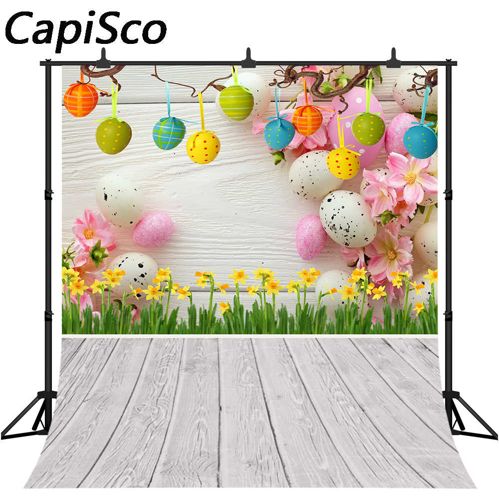HUAYI Easter Spring Background for Pictures Easter Day Party Decoration Photo Backdrops Children Portrait Shooting Booth Studio Props 10x6ft XT-5339
