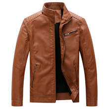New Mens Leisure Leather Garment with Vertical Collar PU Faux Fur Coats Pu Jackets
