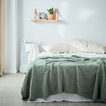 Angus New Style Full-cotton Knitted Blanket Sofa Cover Thread Blanket Pattern Casual Blanket Home Soft Decoration