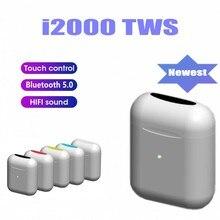 I2000 TWS 1:1 Реплика беспроводные Bluetooth наушники Смарт сенсор наушники гарнитура pk i10 i30 i80 i500 i9000 TWS для всех смартфонов