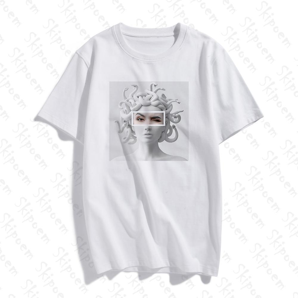 Vintage Sculpture Art T-shirt Women Kawaii Aesthetic Gothic Harajuku Cotton Plus Size Short Sleeve Streetwear Tee Shirt Femme