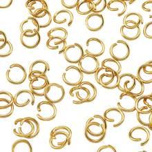 Anillos abiertos de acero inoxidable dorado para hacer joyas, conector de collar F60, 3mm, 4mm, 200 ~ 500 uds.