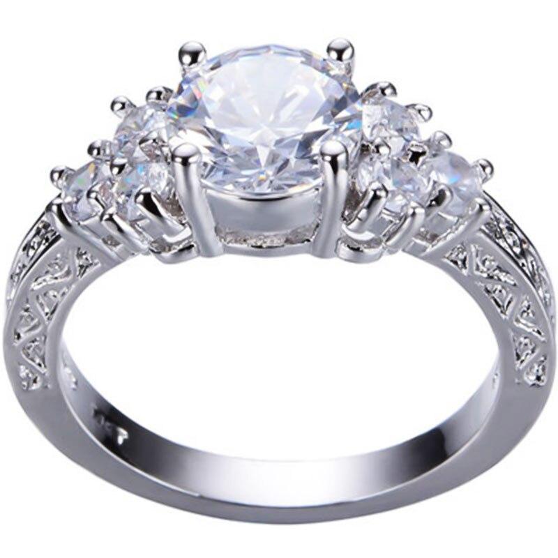 Горячая Распродажа, дизайн, роскошное большое овальное CZ кольцо золотого цвета, обручальное кольцо, хорошее ювелирное изделие для женщин, ювелирных изделий - Цвет основного камня: 6