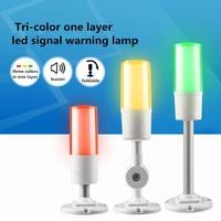 Nieuwe Led Drie Kleur Signal Indicator Lamp 24V 3 Kleur in 1 layer Smart Waarschuwingslampje Voor CNC machine Alarm Fold/Staaf Optioneel-in Richtingwijzers van Licht & verlichting op
