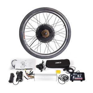 Image 1 - 36 V ou 48 V LCD8 couleur affichage vtt Ebike Kit de Conversion 250 W 350 W 500 W 1000 W moyeu moteur KT contrôleur levier de frein manette des gaz