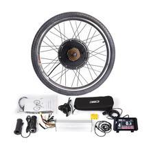 36 V veya 48 V LCD8 Renkli Ekran MTB elektrikli bisiklet dönüşüm kiti 250 W 350 W 500 W 1000 W Hub Motor KT Kontrol Fren Kolu Büküm Gaz