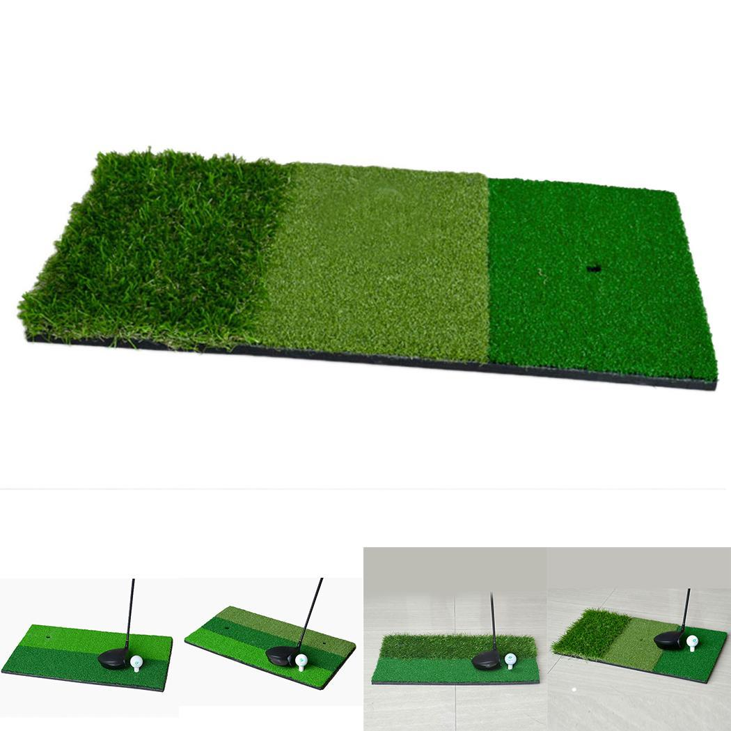 Mini Indoor Golf Hitting Pad Practice Grass Mat Golf Training Accessories