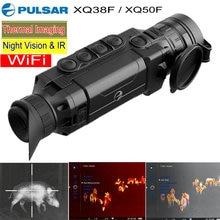 Ручной Pulsar XQ50F/XQ38F тепловизор ночного видения Монокуляр 50 Гц охотничья камера Wifi приложение W/дальномер тепловизор
