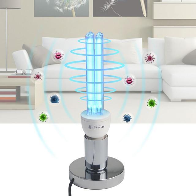 $ US $8.71 15W 25W UV lamp Quartz Germicidal Disinfection UVC CFL Ozone LED Light bulb Ultraviolet Sterilizer bacterial Kill Mite Home lamp