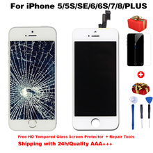 Jakość AAA + + + wyświetlacz LCD dla iphone 6 s ekran dotykowy digitizer lcd dla iPhone6 ekran 5S 6splus 7 7Plus nie martwy piksel + prezenty tanie tanio ANGELO PELLE Rohs CN (pochodzenie) Pojemnościowy ekran 1920x1080 3 For iPhone 4s 5 5c 5s SE 6 6S 7 8 LCD i ekran dotykowy Digitizer