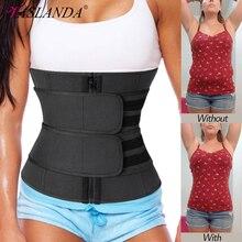 9 Bones Waist Trainer Corsets Neoprene Sauna Sweat Belt Slimming Shaper Fajas Colombianas Modeling Straps Weight Loss Shapewear