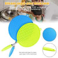 Silikon Deckel Splash-Proof Net Öl-Proof Splash Abdeckung Braten Schutz Matte Non-Slip Griff Topf Deckel küche Kochen Werkzeug TP