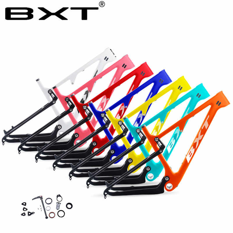 Newest 29er Full Suspension Carbon Mountain Bike Frame 148*12 bicycle in Shock 165*38mm travel 100mm Max Tire size 2.35'' frame