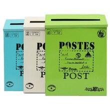New Vintage American Garden Wall-mounted Lockable Post Box Fashion Mailbox Decoration