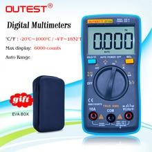 OUTEST ZT102 Digitale Multimeter True RMS AC/DC Spanning Stroom Temperatuur Ohm Frequentie Diode Weerstand Capaciteit Multimetro