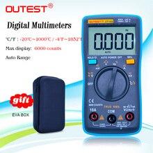 Outest zt102 디지털 멀티 미터 true rms ac/dc 전압 전류 온도 옴 주파수 다이오드 저항 커패시턴스 멀티 미터