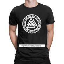 Männer T-shirts Valknut Wotan der Knoten Runes Kontrast Wotan Mit Uns Vikings Baumwolle Tees Fitness Odin Valhalla Viking T shirts
