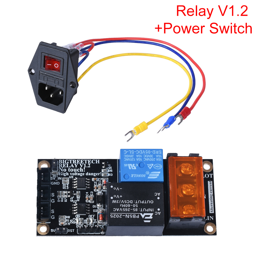 BIGTREETECH Relay V1 2 Automatic Shutdown Module 10A 250V Power Rocker Switch For SKR V1 3 SKR V1 4 MINI E3 3D Printer Parts