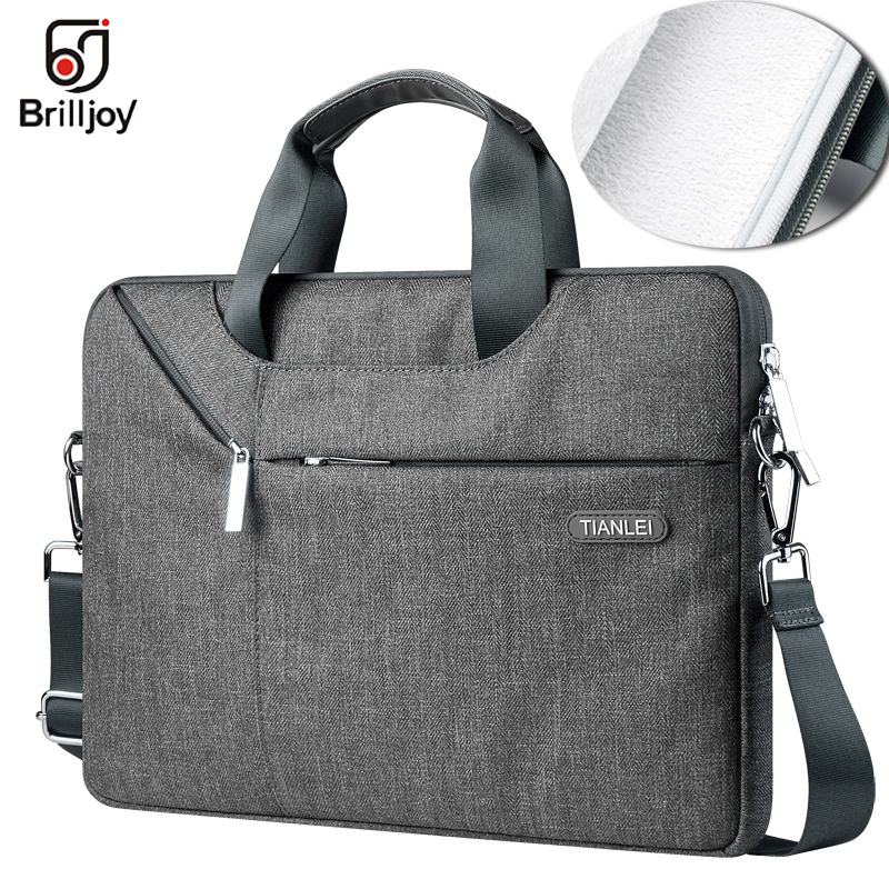 Brilljoy Briefcase Laptop Bag 13 14 15 16 Waterproof Laptop Bag 15 For MacBook Air 13 Case Notebook Bag For MacBook Pro 13 Case
