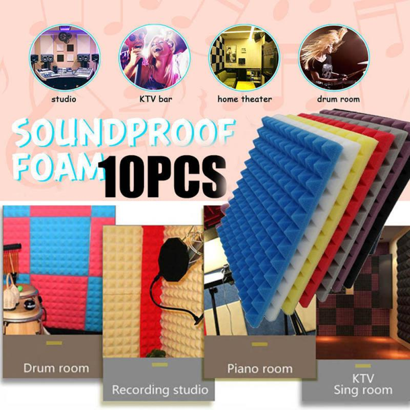 10pcs/set Soundproof Foam Egg Profile Sound Absorbent Foam Acoustic Panel Noise Absorption File For KTV Audio Room Dropshipping