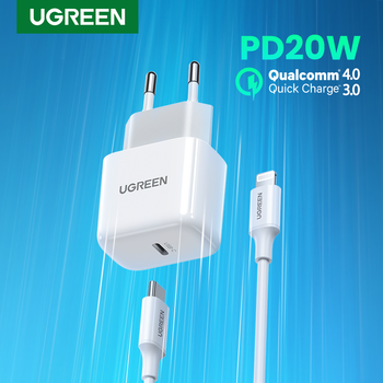 UGREEN Mini PD Charger 20W USB C Charger for iPhone 12 11 Fast Charging USB Charger for Samsung S10 Xiaomi Mobile Phone Charger 1