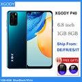 XGODY 3G мобильный телефон 1 ГБ 8 ГБ 6,8