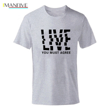 IMANFIVE2019 summer T shirt men Round neck New Letter Print Mens tshirt Short Sleeve High Quality T-Shirt Men boys shirts gray plus size letter print round neck short sleeves t shirt for men