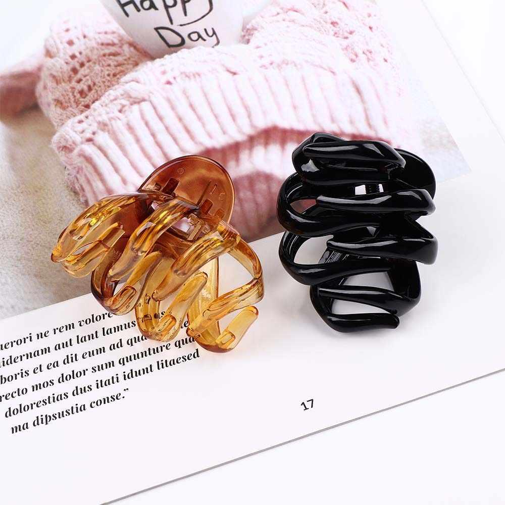 新しい女性タコ爪ヘアクリップハート形ハンドル湾曲したデザインのヘアピンクランプ女の子シンプルなヘアアクセサリー