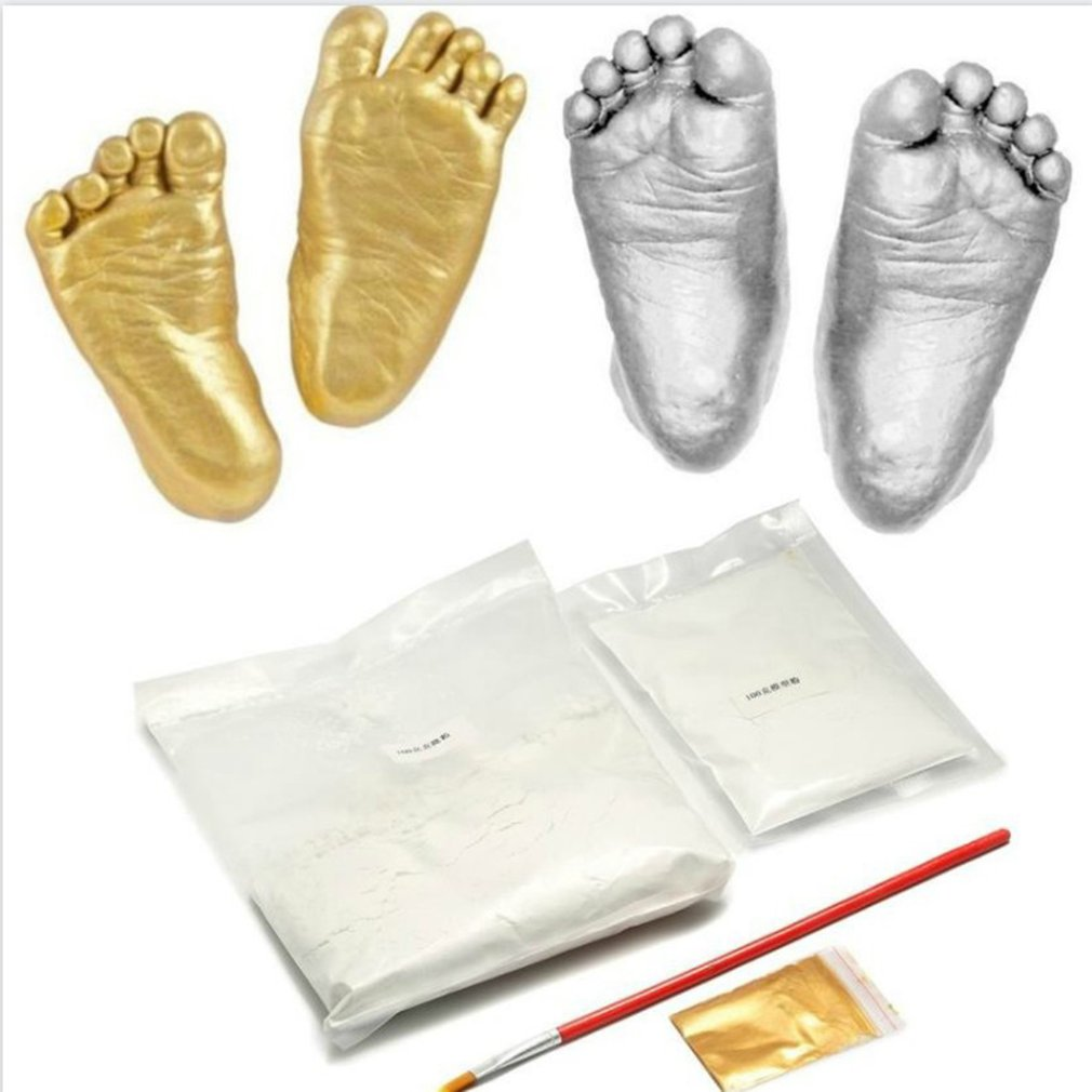 100g Plaster Molding Powder Clone Powder Mini Kit Kids Baby Handprints Footprints Hand And Foot Casting Consolidation Process