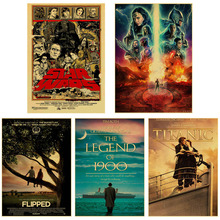Wall-Stickers Posters Movie-Painting-Picture Retro Vintage Kraft-Paper Art Classic Bar-Decor