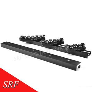 Image 4 - 28mm width Rectangle wheel  Linear Guide Rail 1pcs SGR10N Length=200mm with SGB10N 4UU four wheel slide block for CNC parts