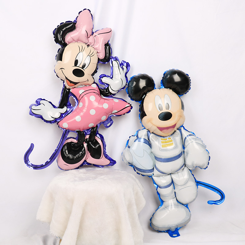 112cm Giant Mickey Minnie Mouse Cartoon Foil Balloon For Birthday Party 17