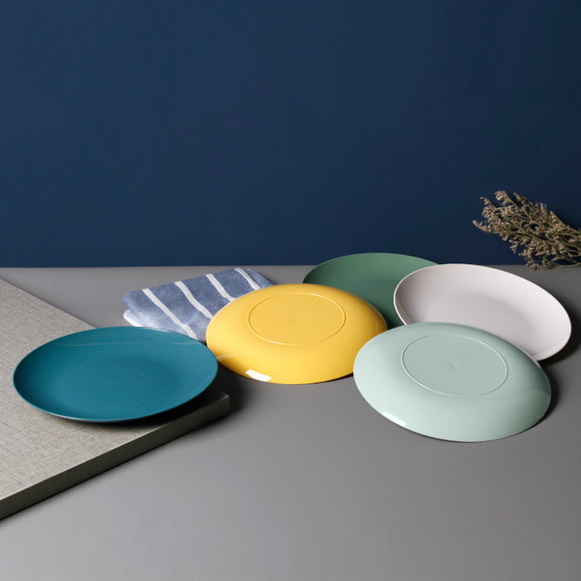 Kitchen Plastic Food Sauce Dish Small Vinegar Taste Board Snack Plates Creative Imitation Porcelain Round Household Fruit Plate 3