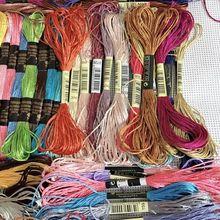 10/20/40/50 шелк embroidery100% Шелковая нить бархатистая обувь с вышивкой шелковая нить небольшой палочки ручная вышивка крестом