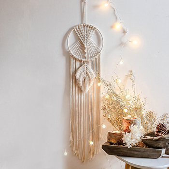 95cm Cotton Boho Macrame Tapestry Decorations Bohemian Macrame Knot Tapestry Home Room Decor Wall Macrame Hangings Accessories фото