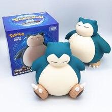 Juguete Snorlax Pokemon Y Banco Caja de almacenamiento de monedas juguetes para niños regalo de cumpleaños decoración dinero niños cajas