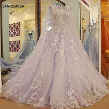 LS54770 New arrival long engagement dresses with long cape ball gown corset back long eveing gowns kleider lang elegant 2018