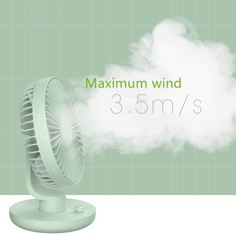 Rechargeable Fan Desktop Electric Fan USB Mini Fan Mute 120 Degree Shaking Head Fan Portable Fan Usb Rechargeable Fans     - title=