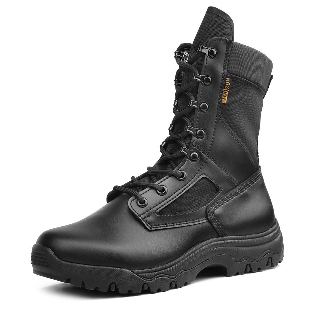 Men's Autumn Winter Shoes Fashion Men Shoes Boots Size 38-46 Ankle Military Tactical Boots Black Comfortable Footwear Men Shoes