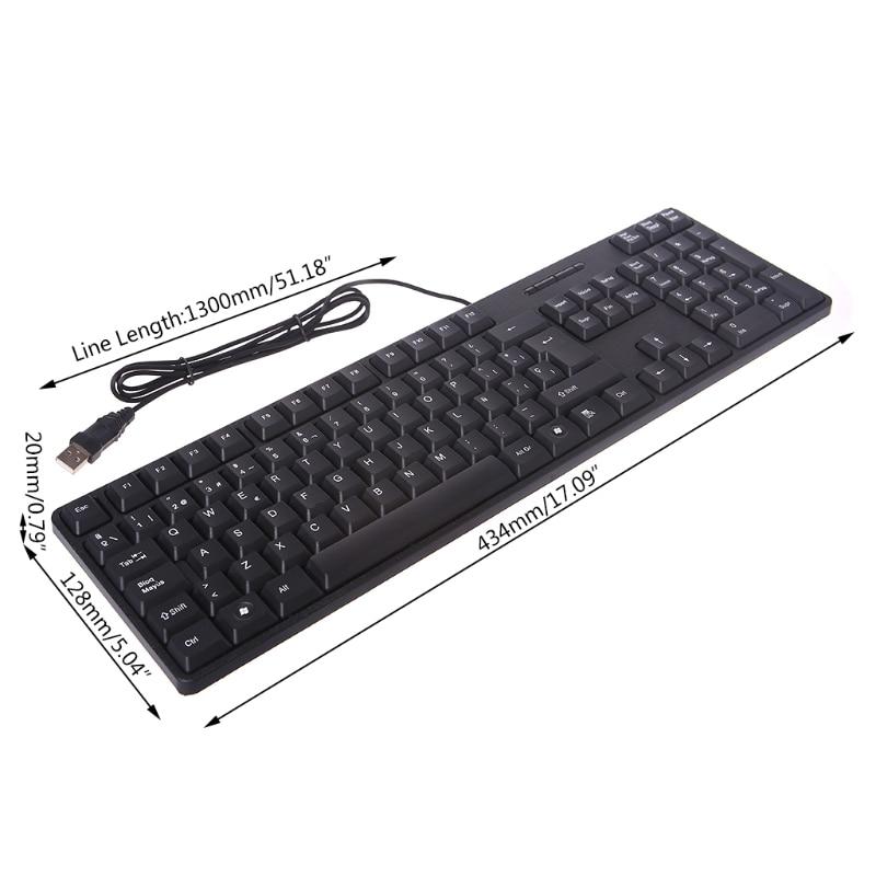 Spanish/English Silent Keyboard Waterproof Office Keyboard For Windows Computer LX9A
