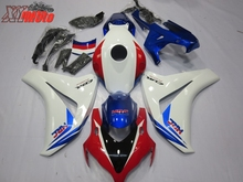 цена на Motorcycle Fairing Kit For Honda CBR1000RR 2008-2011 Injection ABS Plastic Fairings CBR 1000RR 08-11 Gloss White HRC Bodyworks
