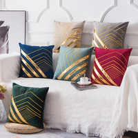 Luxo dourado bronzeamento grosso veludo quente travesseiro capa de almofada para casa ano novo decorativo kussenhoes housse coussin cojines