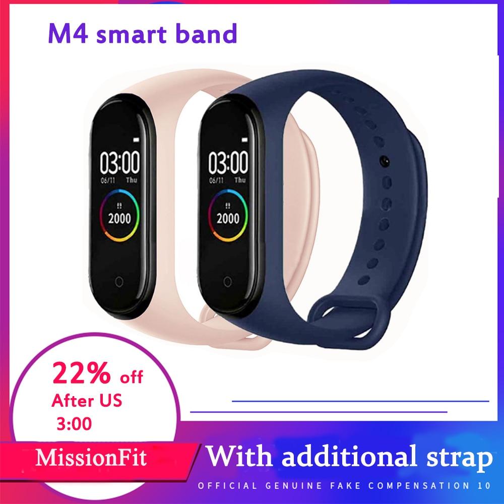 Смарт браслет M4, водонепроницаемый браслет для измерения артериального давления, монитор сердечного ритма, фитнес трекер M4, Смарт часы для мужчин Смарт-браслеты      АлиЭкспресс