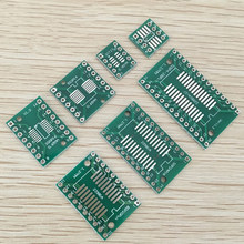 35 шт./лот печатная плата комплект для самостоятельной сборки SMD Поворотный адаптер DIP преобразователь пластина SOP MSOP SSOP TSSOP SOT23 8 10 14 16 20 24 28 SMT в ...